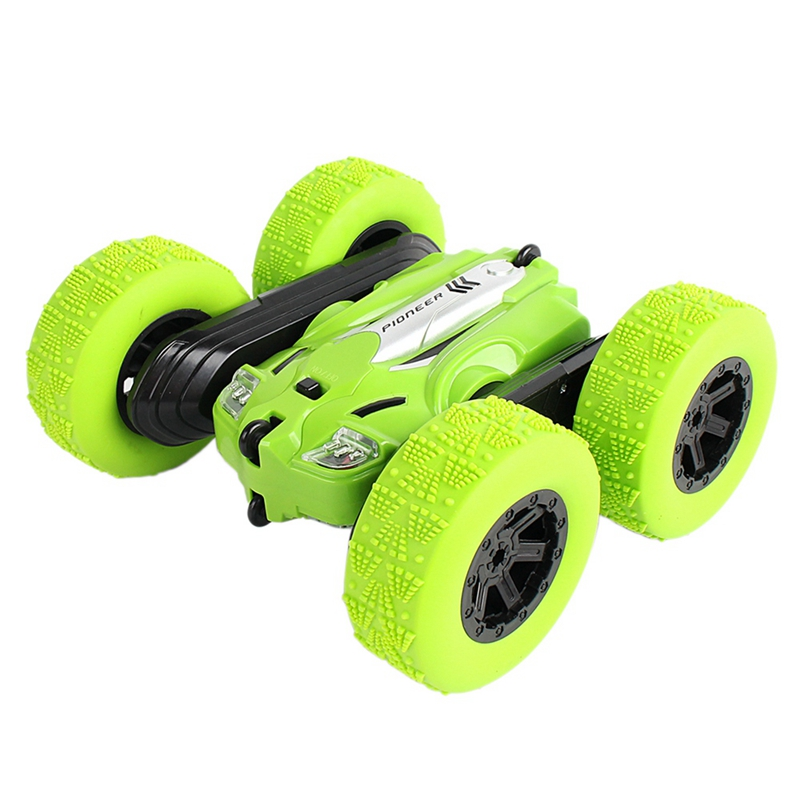 Rc Car High Speed 3D Flip Remote Control Car Drift Buggy Crawler Battery Operated Stunt Machine Radio Controlled  Green   Climbi