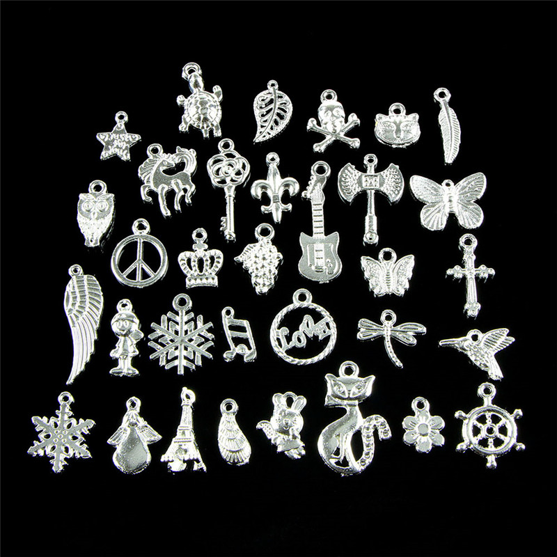 Charm-Pendants Bracelet Jewelry Making Bulk-Lots Necklace Bead Mixed DIY 50pcs Approx title=
