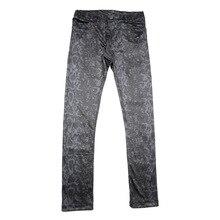 Leggings Trousers Pencil-Pants Tight Spring Snakeskin Men's Casual Soft Grain Imitate