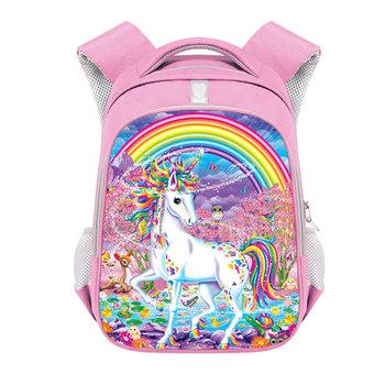 Plecak z motywem jednorożca dla dziewczynek torby szkolne dla dzieci plecaki szkolne dla dzieci Kawaii plecaki szkolne dla dzieci prezent dla dzieci Bookbag tanie i dobre opinie COOLOST CN (pochodzenie) Poliester zipper Backpack 360g polyester 36cm Cartoon 16100601 Dziewczyny 13cm 23cm Black Pink