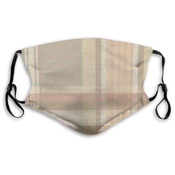 LAURA FERGUSON Half Face Mask with Filter Unisex Tactical Winter Cover for Colorful Tartan