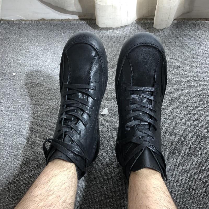 superior couro genuíno tornozelo rendas até apartamentos