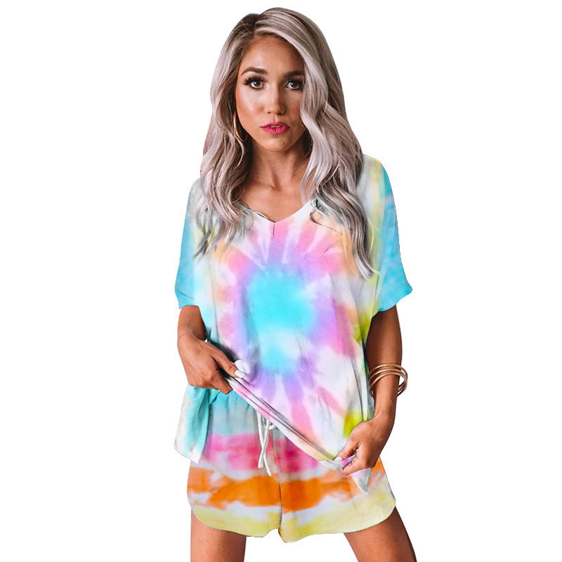 2020 New Womans Camouflage Loose Pajamas Spring And Summer O Neck Short-Sleeved Cute Ladies Hedging Home Service Two-Piece Suit