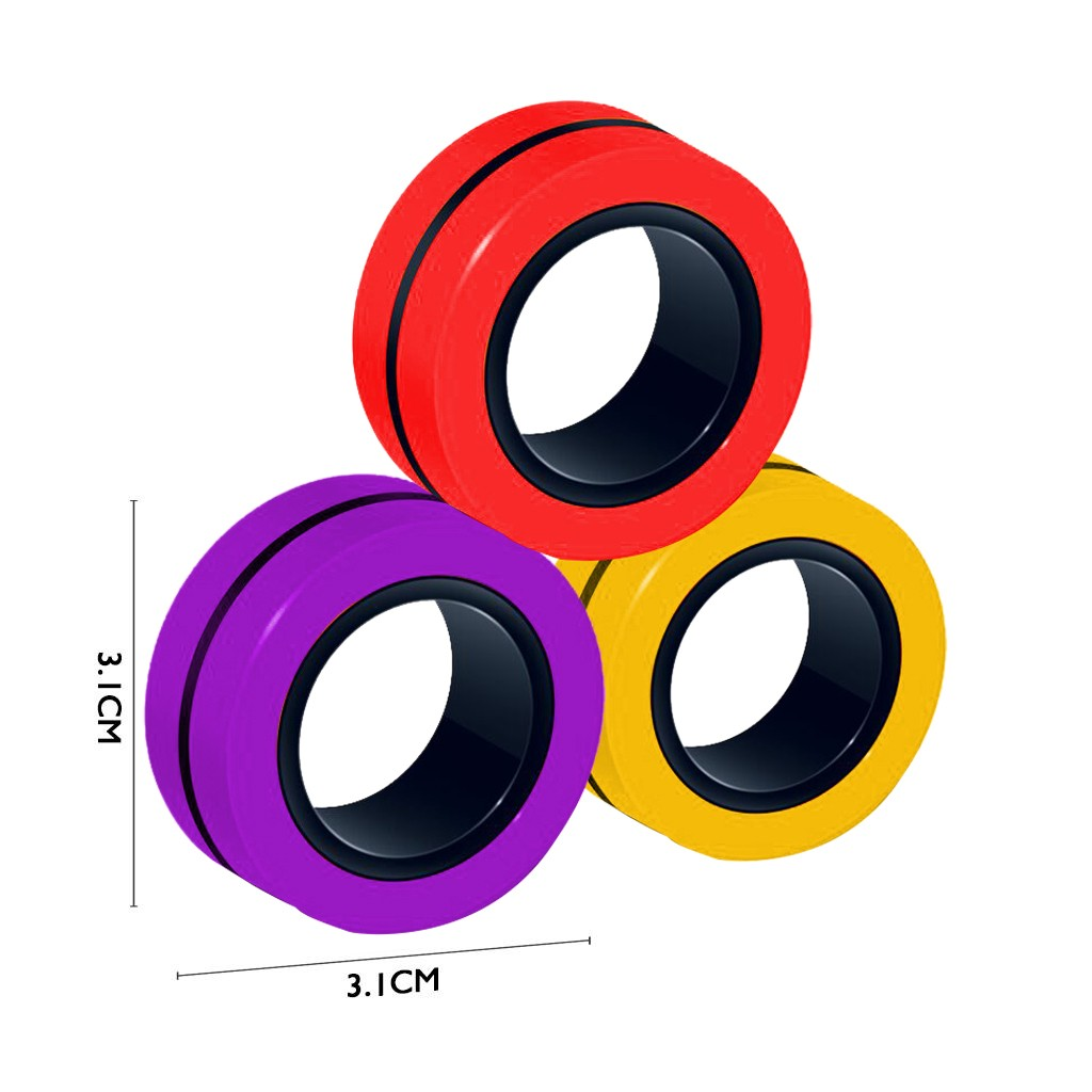 Ring-Props-Tool Fingertip-Toys Magnetic-Rings Decompression Anti-Stress ADHD Anxiety Relief img5