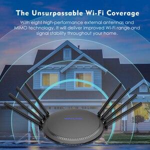 Image 5 - AC3000 MU MIMO tri band kablosuz WiFi yönlendirici 2.4G + 5Ghz ile Touchlink Gigabit Wan/Lan akıllı Wi Fi tekrarlayıcı/erişim noktası USB 3.0