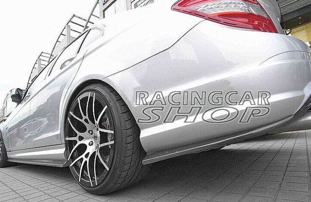 UNPAINTED Rear Bumper Extensions 1pair for Mercedes Benz W204 C63 AMG Side Skirt 2012-2014 M070F 3