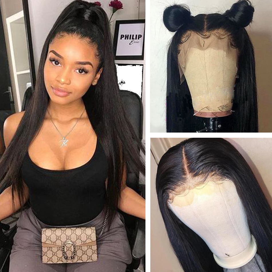 Straight Lace Front Wigs For Women Malaysian 150% Density 13*4 Straight remy Lace Frontal Human Hair Wigs