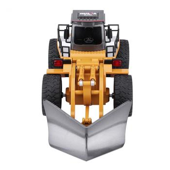 HUINA 1586 6CH RC Truck Engineering Vehicle Snowplows 2.4GHz RC Metal Bulldozer Remote Control Construction Tractork Toys