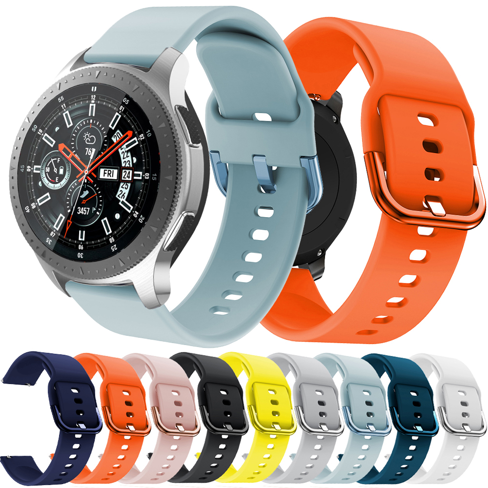 New Sport Silicone 22mm Watch Strap Band For Samsung Galaxy Watch 46mm Sport Smart Wristbands For Huami Amazfit Stratos 2 2S