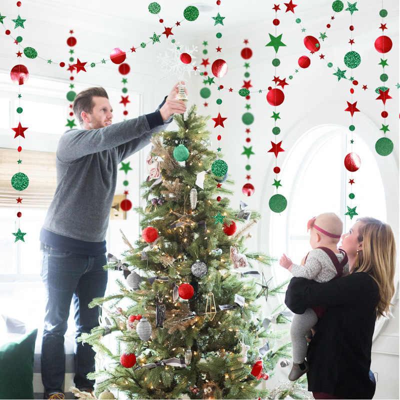 Decorazioni di natale per la Casa 4M Scintillio Star Fiocco di Neve Ghirlande di Carta Del Pendente Nuovo Anno 2020 Decor Noel Navidad Ornamenti Kerst