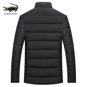 Image 2 - ผู้ชายเป็ดสีขาวลงเสื้อแจ็คเก็ตฤดูหนาว Slim Hooded Down Coat Selected Feather เสื้อผ้าสำหรับชาย 9231 ใหม่ 2019