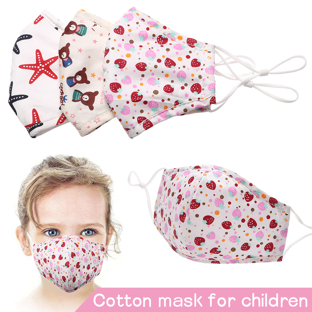 Fashion Cotton Mask Breathable Children Anti Dust Washable Reusable Filtered Activated Carbon Face Mask