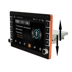 1Din Регулируемая 9 Android 8,1 1080P сенсорный экран стерео радио с кнопочной ручкой четырехъядерный ОЗУ 1 Гб ПЗУ 16 Гб GPS Wifi 3G 4G
