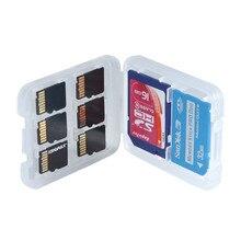 Estojo protetor para cartão de memória, caixa de armazenamento para cartão de memória sdhc tf, 1 peça