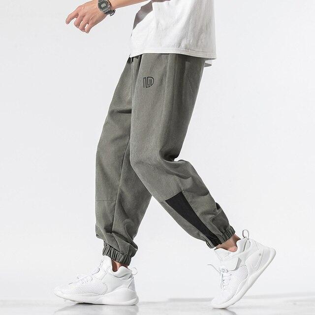 Nuevos pantalones informales para hombre, pantalones holgados 4