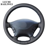 DIY Black Genuine leather Car Steering Wheel Covers for Mercedes Benz Viano w639 2006   2011 Vito 2010 2015 Car accessories|Steering Covers|Automobiles & Motorcycles -