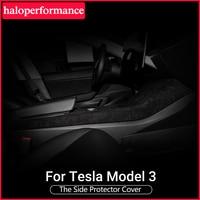 Haloperformance Modely Model3 Car Side Protector Cover For Tesla Model 3 Turn fur interior Accessories Model Three model y 2020