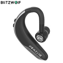 BlitzWolf IPX5 Wireless Bluetooth Earphone Single Business Headsets Sports Handsfree Calls Ear hook Earphones Handsfree Calls Car Driving Driver Earhook Headphone with Mic For iPhone Android IOS