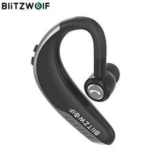 BlitzWolf IPX5 Wireless Bluetooth Earphone Single Business Headsets Sports Handsfree Calls Ear hook Earphones Handsfree Calls Car Driving Driver Earhook Headphone avec Mic For iPhone Android IOS