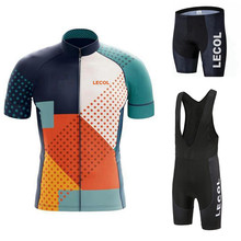 Cycling Jersey Clothing Bicycle Mtb Bike Downhill Breathable Quick Dry Shirt Men Short Sleeve Set 2021 Pro Team Summer 20D LECOL