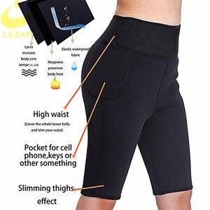 Image 2 - LAZAWG ネオプレンサウナショーツ女性のための減量汗パンツボディシェイパーレギンスプラスサイズ 4XL に 6XL