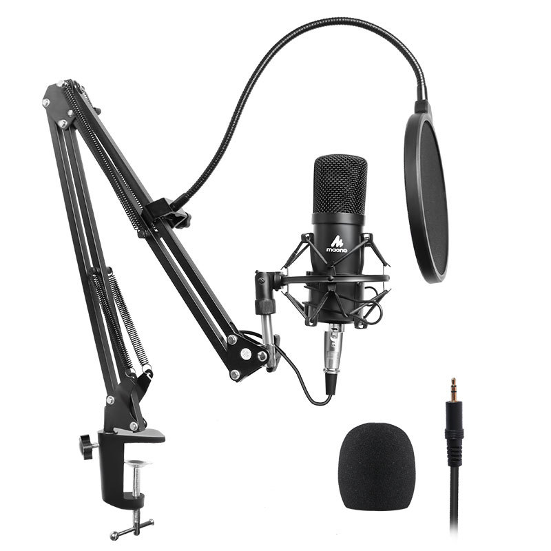 Podcast Microphone Kit Filter Condenser Mic Tripod Stand For 192KHZ/24BIT Professional Studio Computer Vocal Recording
