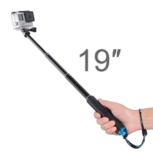Portable Selfie Stick Extend Monopod for GoPro Hero 8 7 6 5 Yi 4K Sjcam M10 Sj8 Eken H9 DJI Osmo Camera Go Pro Accessory portable hand grip waterproof selfie stick pole tripod for gopro hero 7 6 5 4 sjcam eken yi 4k dji osmo action camera accessory