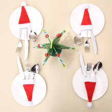 2020 best-selling NEW 5PCS Christmas Caps Cutlery Holder Fork Spoon Pocket Decor Bag christmas gift bags