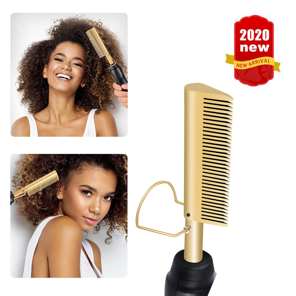 Hot Comb Hair Straightener Electric Comb Hair Curling Iron Environmentally Friendly  Alloy Hair Curler Fast Smoothing Hair Brush