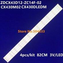 Podświetlenie led dla ZDCX43D12-ZC14F-02 303CX430032 LISTWA CX430M02 r pikseli LE-4329 CX430DLEDM LC430DUY-SHA1 43EX6543 LC430DUY