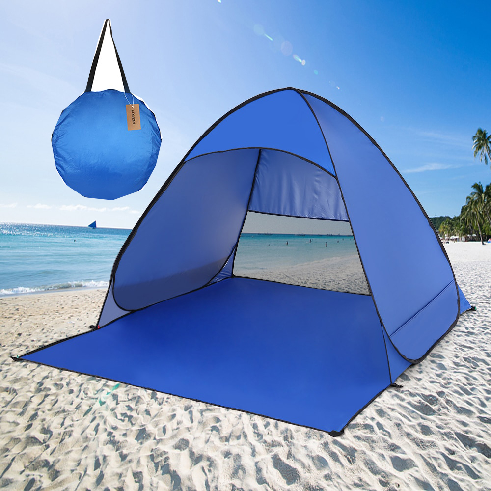 Lixada Ultralight Hiking Tent Winter Tent Automatic Instant Pop Up Beach tourist Tent Outdoor UV Protection Camping Fishing Tent image