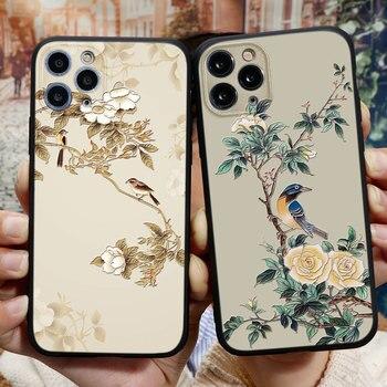 3D en relieve de caso para iPhone 11 Pro XR X XS X Max Capa Celular para iPhone 7plus 8plus 6S 6 7 8 Plus silicona Funda caso