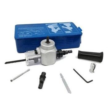 Профессиональная двойная головка листового металла Nibbler Cutter Holder Tool Drill Attachment Kit для резки железная стальная плита дерево пластик F
