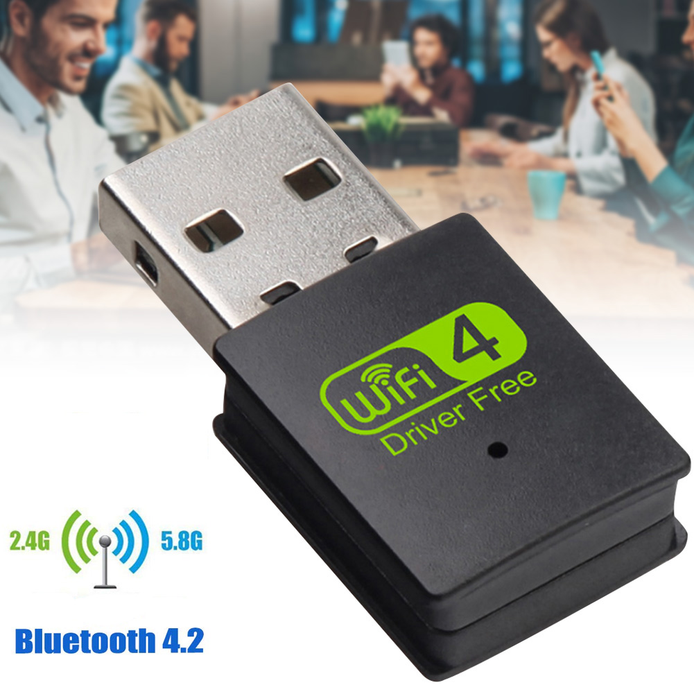 USB WiFi Bluetooth Adapter Dual Band Wireless External Receiver Dongle For PC Laptop VDX99