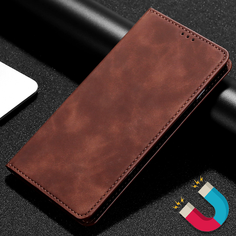 Business Leather Case For MOTO G8 G7 G6 G5 G5S G4 E6 E5 E4 C Plus Play Power Wallet Case With Magnetic Closure Stand Flip Cover