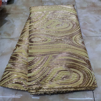 Organza jacquard african lace fabric 2020 high quality lace french mesh fabric sequins nigerian swiss lace fabrics for dress