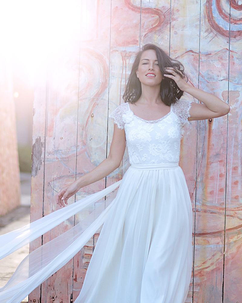 Vestido De Noiva <font><b>Praia</b></font> <font><b>Sexy</b></font> Lace Backless Wedding <font><b>Dresses</b></font> Chiffon Bohemian Wedding <font><b>Dress</b></font> Beach Bride <font><b>Dress</b></font> Vestido De <font><b>Casamento</b></font> image