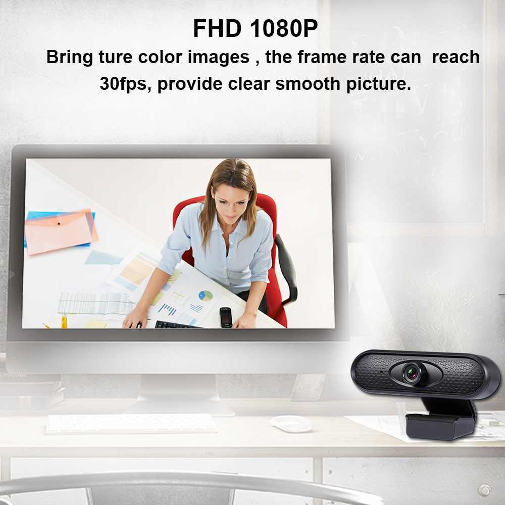 Webcam 1080P Volle HD PC Kamera 2MP USB 2,0 Stick-freies Mit Mikrofon Autofokus Für Home Entwickelt für Laptop Und Desktop Webcam
