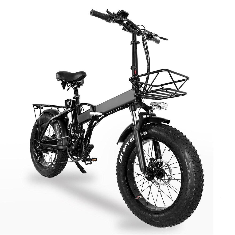 Электрический складной велосипед GW20 750 Вт, 20 дюймов, GW20 750 Вт, 20 дюймов, 4,0 толстые шины, 48 В, мощный литиевый аккумулятор, сноубайк, Европейский...