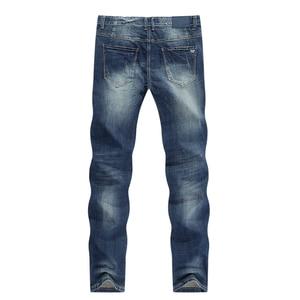Image 2 - KSTUN Mens Jeans Classic Direct Stretch Dark Blue Business Casual Denim Pants Slim Straight Long Trousers Gentleman Cowboys 38
