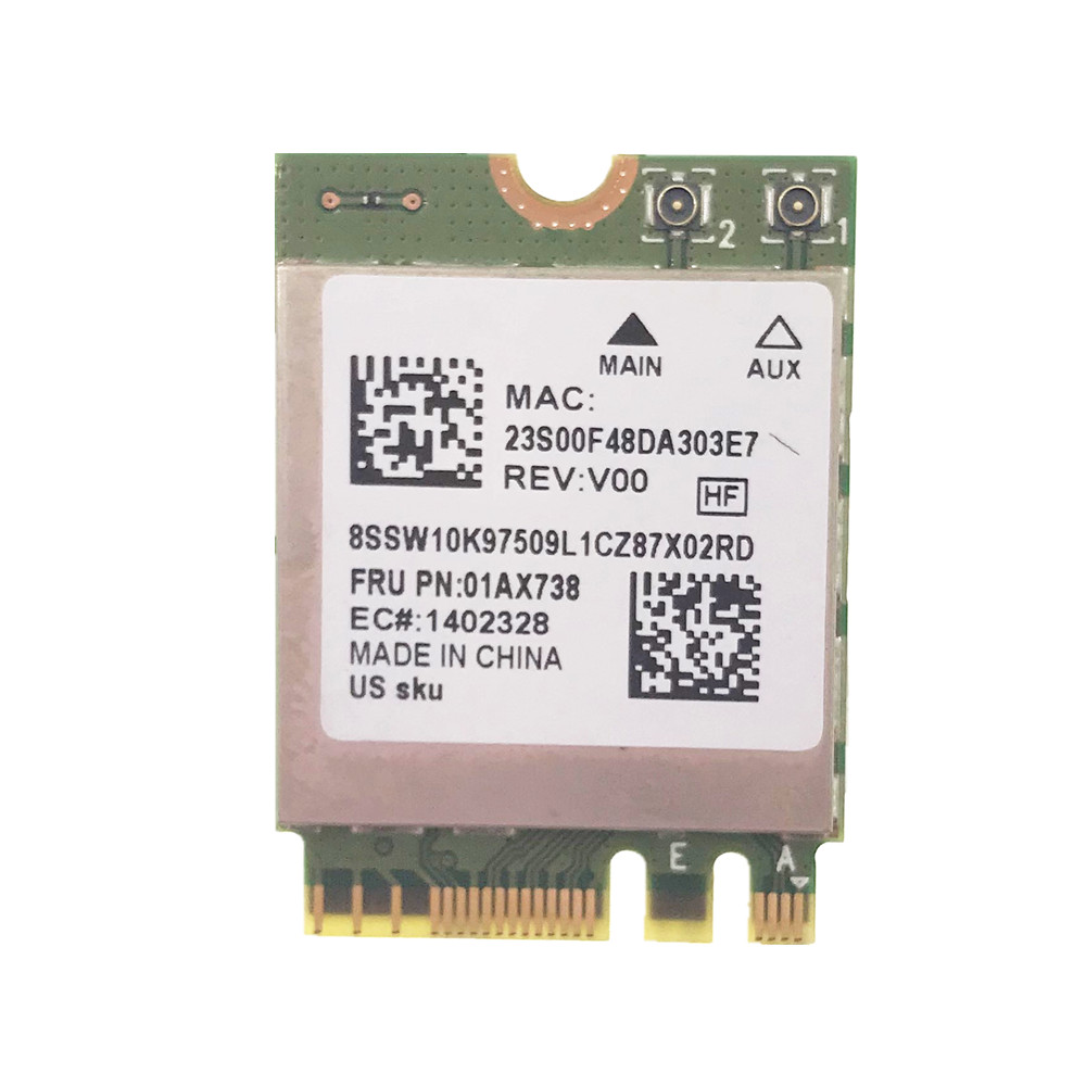 Original Wireless RTL8822BE 802.11ac Wlan Bluetooth 4.1 For Lenovo Thinkpad Series FRU: 01AX712 01AX738
