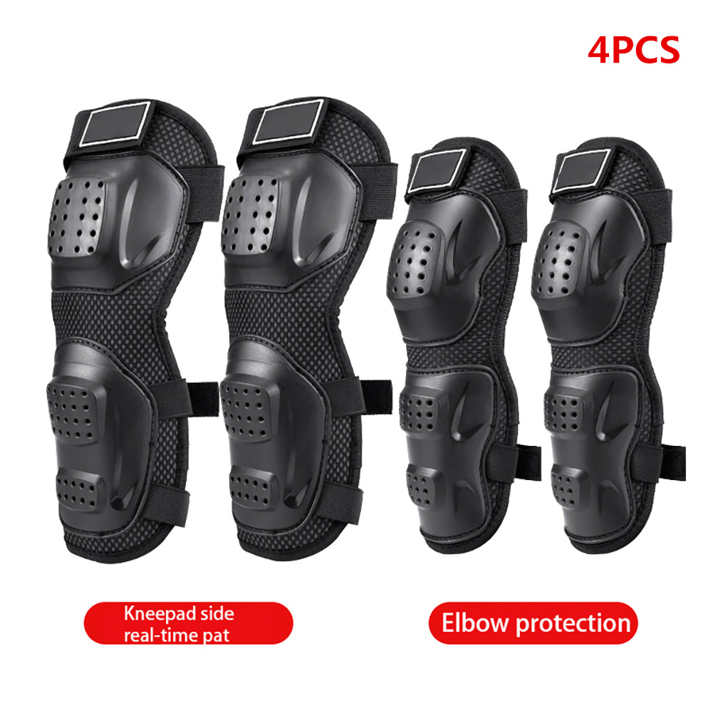 4Pcs Motorcycle Knee Guard Knee Protector Support Knee Pads Safety Protective Gear Universal Motocross Cycling Elbow Protector