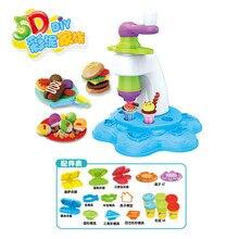 Милый Игровой Домик DIY Quit Plasticene 5D цветная глина вращающаяся машина для мороженого набор игрушек для детского сада