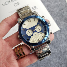 Hot Sale Luxury Black  Blue White Mens Stainless Steel Quartz Watch Designer Sports Men Watches Wristwatches good quality fasion mens ip gold plating quartz wristwatches stainless steel watches 3 colors available