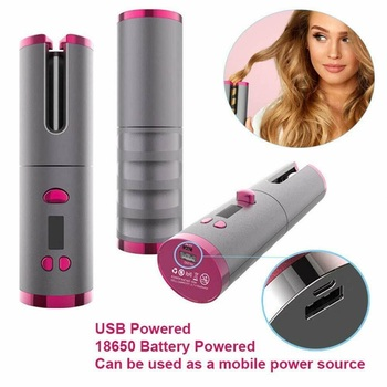 Automatic Hair Curler Wireless Air Curler  Ceramic Rotating Curling  Iron Wand Roller USB Charging Hair Dresser