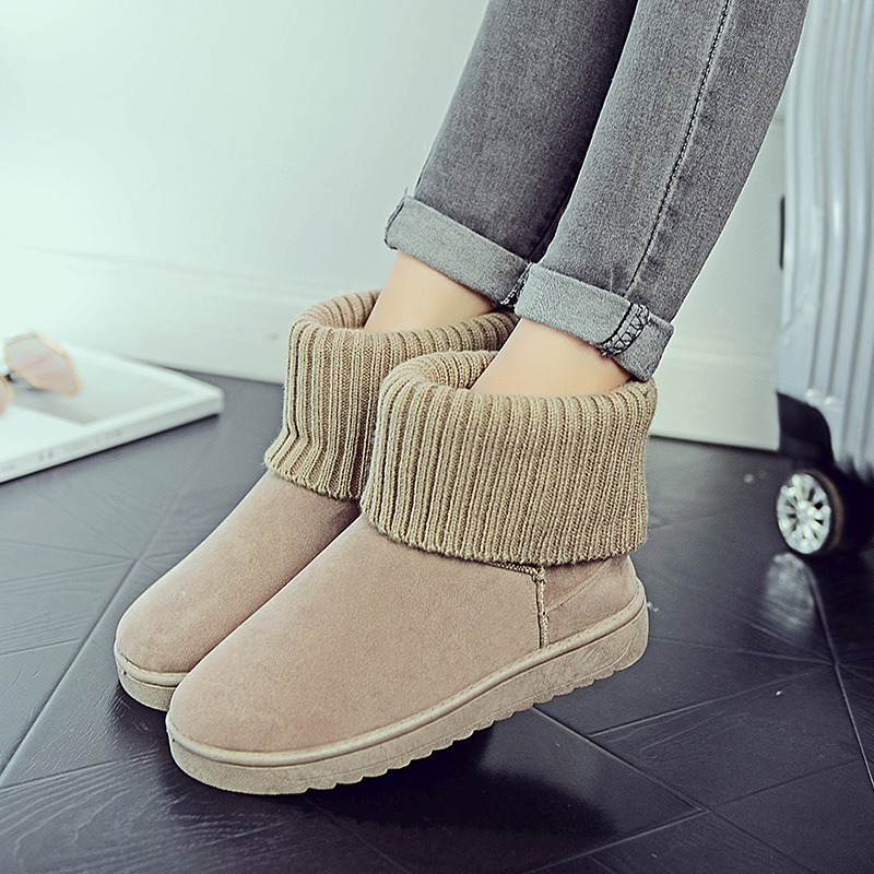 Women's new snow boots winter fashion wild classic women's shoes simple warm non-slip waterproof wool shoes ladies ankle boots 73