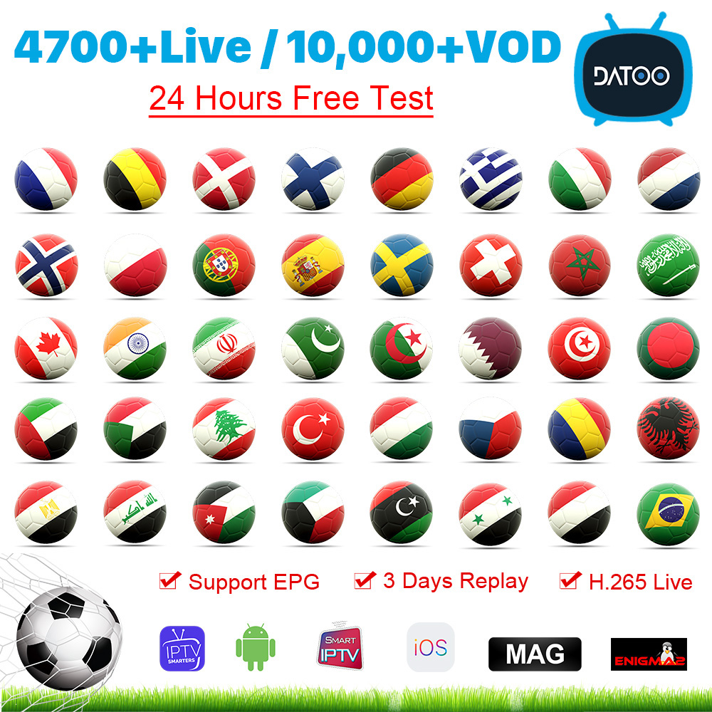 IPTV France Arabic Italy Spain Portugal Code IPTV M3U Subscription DATOO 1 Year IPTV France Italia Sweden Canada Germany IP TV