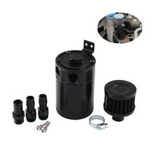 2-Port Durable Car Oil Catch Can Tank Aluminum Air Oil Separator With Breather Filter And Oil Drain Valve Tank chrome aluminum double hole 19mm oil catch tank racing oil can catch tank can oil catch tank oil catch can