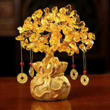 Chinese Fortune Tree Wealth Home Office Decoration Ornament Gifts Wine Cabinet Crafts