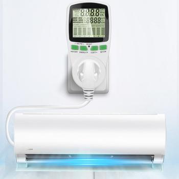Kompaktowy licznik energii watomierz ue US wtyczka zasilania miernik Watt Kwh analizator gniazda pomiarowego Monitor mocy elektrycznej tanie i dobre opinie WHDZ 0-9999V 230 v Cyfrowy tylko 230V energy meter Normal High quality 19A i Pod